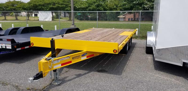 2021 Anderson Manufacturing 8.5X18 TA Tagalong Series Equipment Trailer