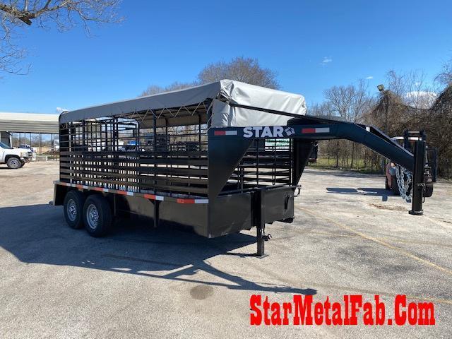 "2021 STAR  6'8"" x 16' Livestock Trailer"