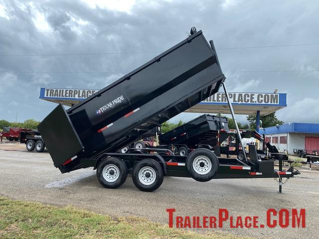 2022 Texas Pride 7 x 16 Bumper Pull Dump Trailer