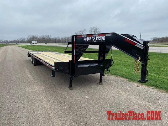 """2020 Texas Pride 102"""" x 32' Deckover Flatbed Trailer"""
