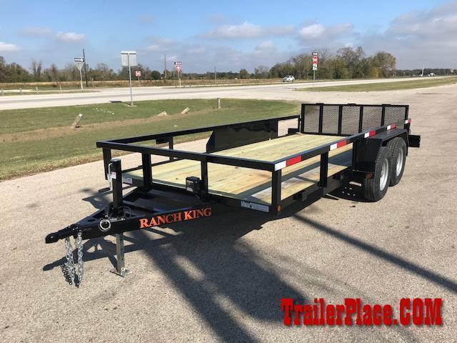 "2021 Ranch King 6'10"" x 16' Utility Trailer"