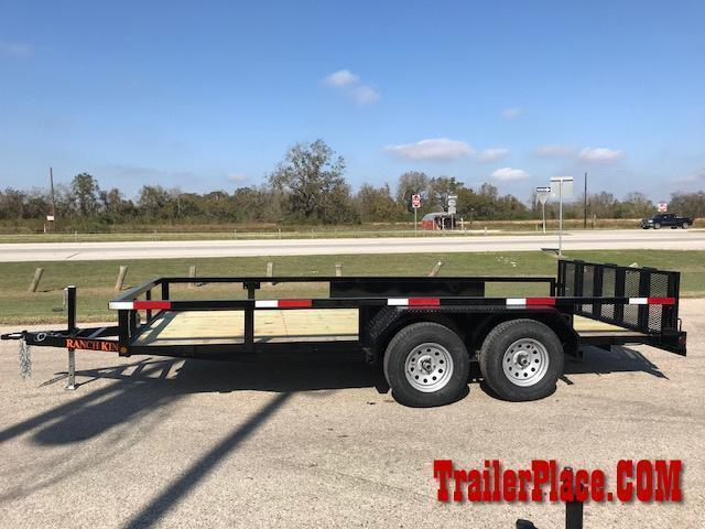 "2021 Ranch King 6'10"" x 16' Utility Trailer"