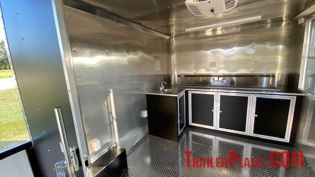 BRAND NEW IN STOCK 8.5x18 BBQ / COOK OFF / PORCH / CONCESSION / VENDING / FOOD TRAILER