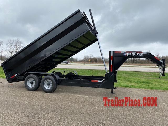 2022 Texas Pride 7 x 14 Gooseneck Dump Trailer