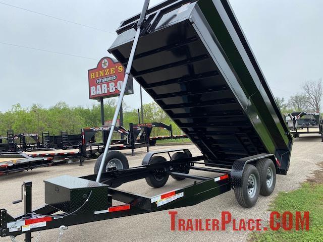 2021 Texas Pride 7 x 16 Bumper Pull Dump Trailer