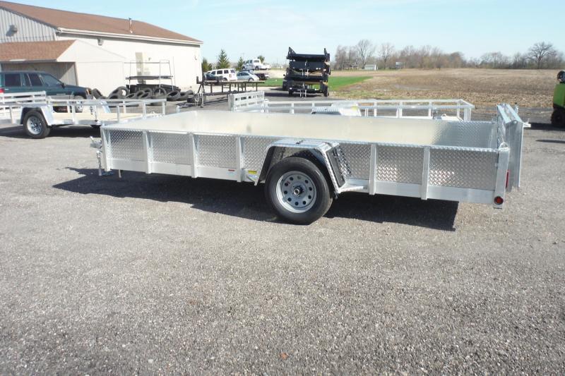 2020 Quality Steel and Aluminum 80 X 14 ALUMINUM LANDSCAPE Utility Trailer