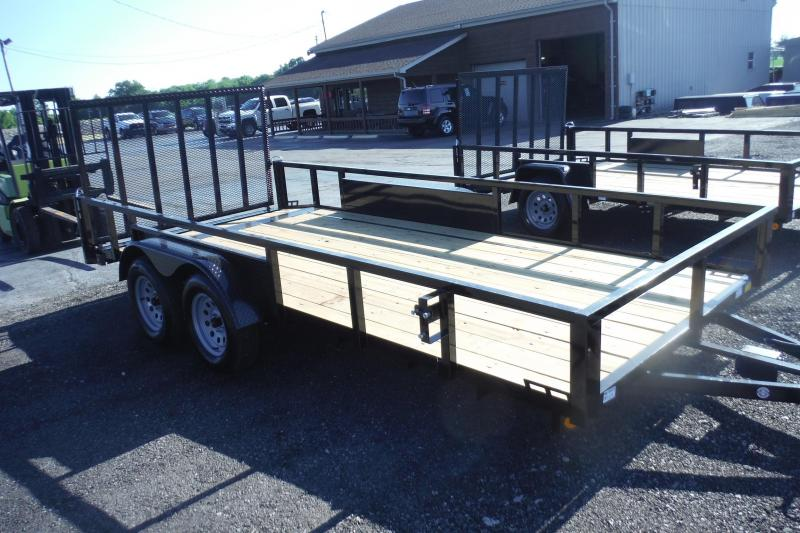 2021 Quality Steel and Aluminum 82 X 16 LANDSCAPE TANDEM Utility Trailer