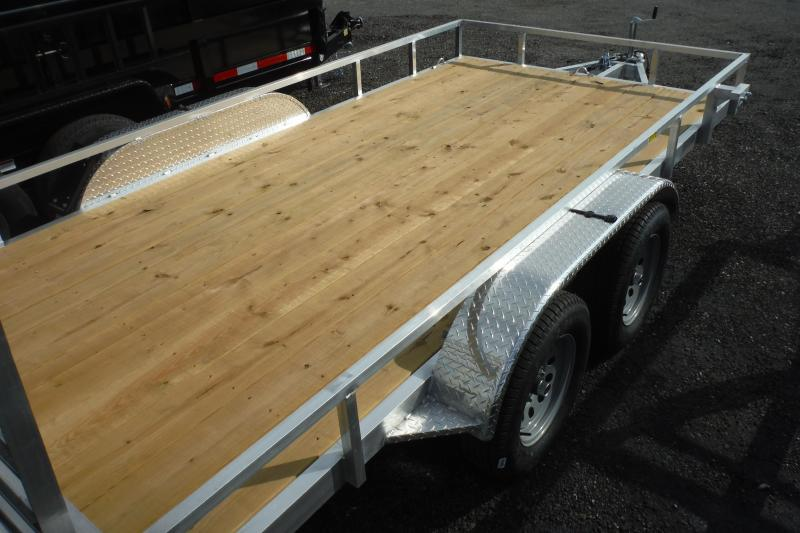 2021 Quality Steel and Aluminum 82X16 ALUMINUM Utility Trailer