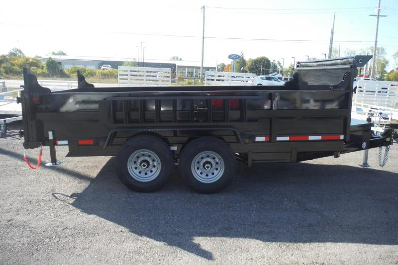 2021 Quality Steel and Aluminum 7X12 LP DUMP 12000LBS Dump Trailer