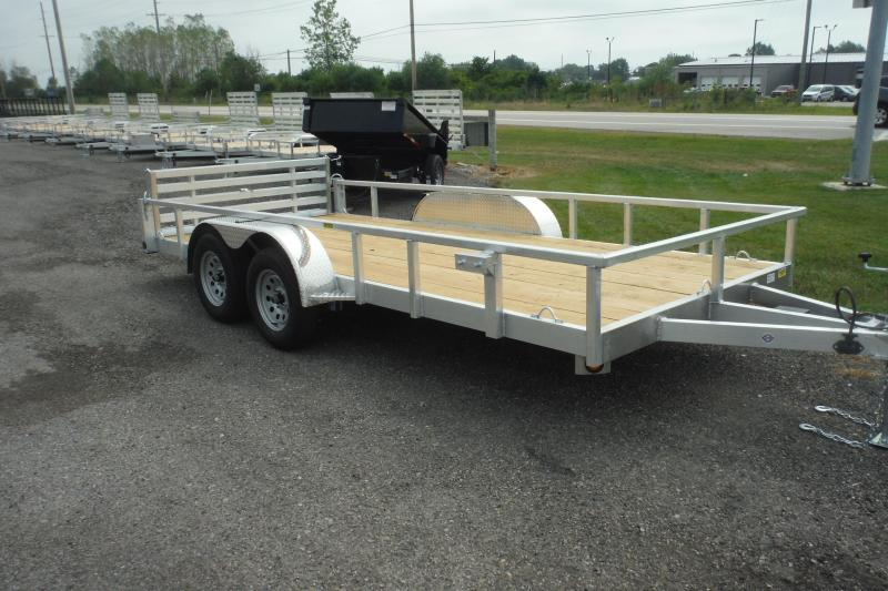 2021 Quality Steel and Aluminum 16 FT ALUMINUM LANDSCAPE Utility Trailer