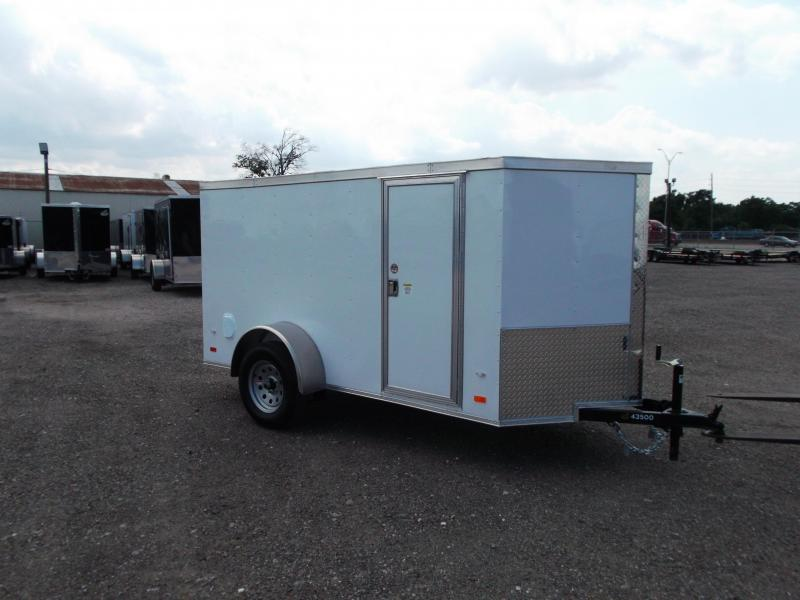 2021 Covered Wagon 5x10 Single Axle Cargo Trailer / Enclosed Trailer / Double Rear Doors / RV Side Door / LEDs / Semi-Screwless Exterior
