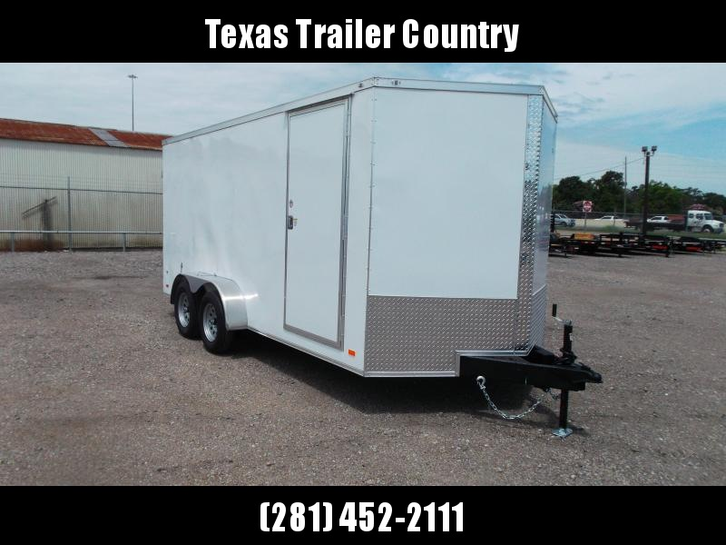 "2021 Covered Wagon Trailers 7x16 Tandem Axle Cargo Trailer / Enclosed Trailer / 6'6"" Interior / Barn Doors / RV Side Door / LED's / Semi-Screwless Exterior"