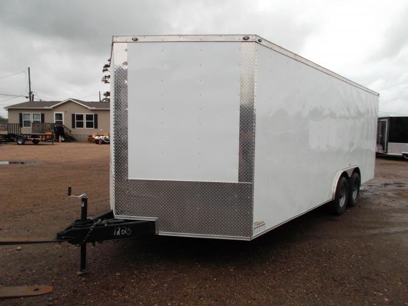 "SPECIAL - 2020 Texas Select 8.5x20 Tandem Axle Cargo Trailer / Car Hauler / 5200# Axles / Heavy Duty Ramp / 7'6"" Interior Height / LED's"