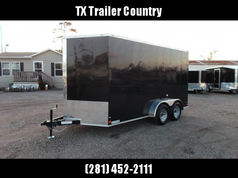 2022 Covered Wagon Trailers 7x14 Tandem Axle Cargo Trailer / Enclosed Trailer / 7ft Interior / Ramp / LEDs / Semi-Screwless Exterior Skin