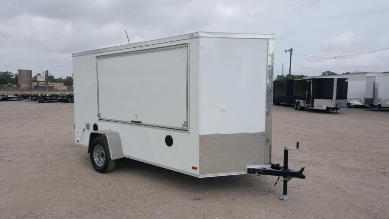 2021 Covered Wagon Trailers 6x12 Tailgate Trailer w/ Stereo Package / Interior Package / .030 Exterior Skin