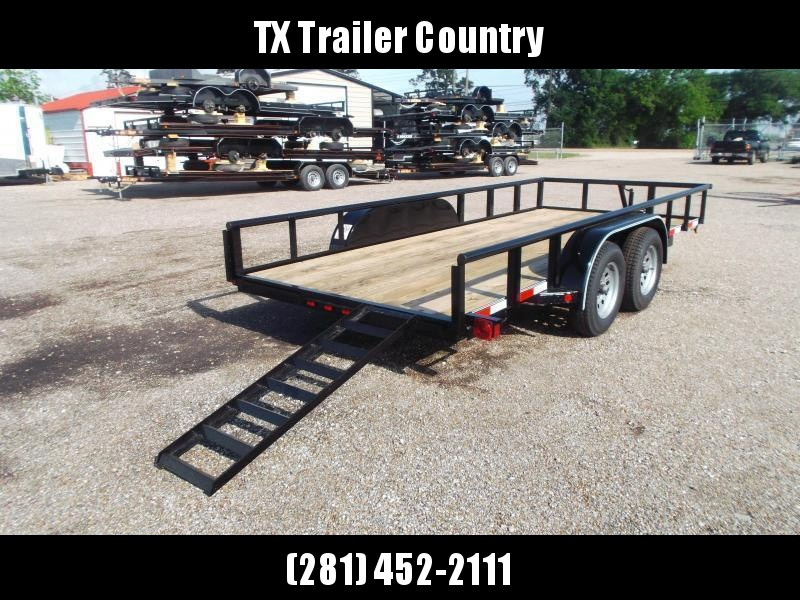2022 Longhorn Trailers 16ft Utility Trailer / Pipetop / 5ft Stow Away Ramps / Electric Brakes
