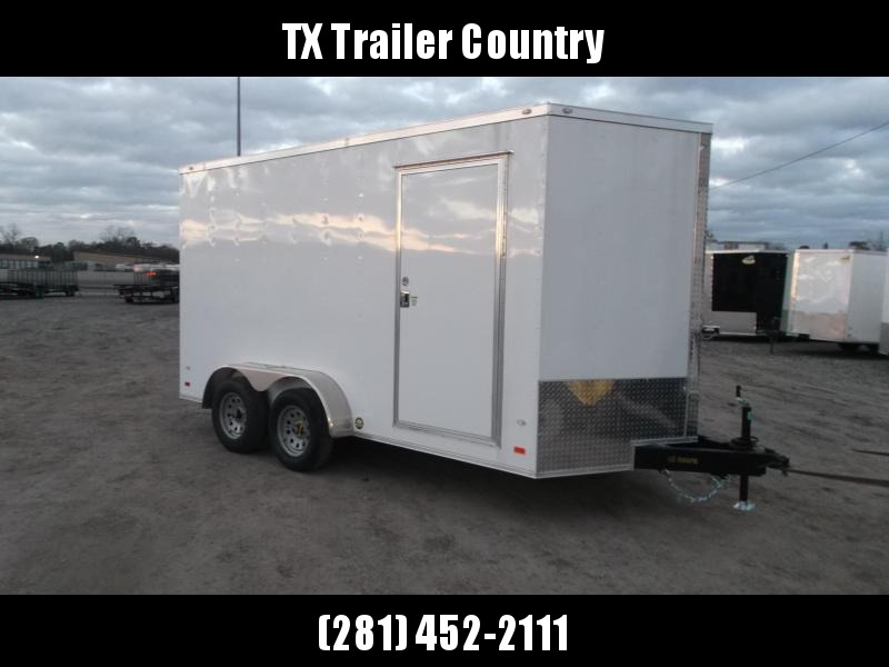 2022 Covered Wagon Trailers 7x14 Tandem Axle Cargo / Enclosed Trailer / 7ft Interior / Ramp / RV Side Door / LEDs / Semi-Screwless Exterior