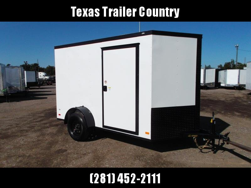 2021 Covered Wagon Trailers 6x12 Single Axle Cargo / Enclosed Trailer / Ramp / RV Side Door / LEDs / Semi-Screwless Exterior / Blackout Package