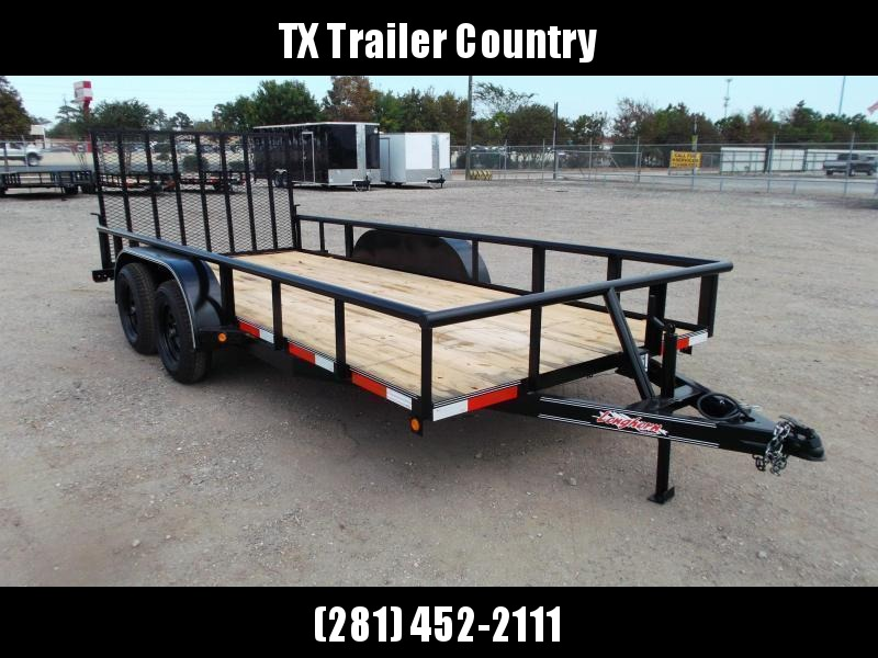 2022 Longhorn Trailers 16ft Utility Trailer / Pipetop / 4ft Ramp Gate / Electric Brakes