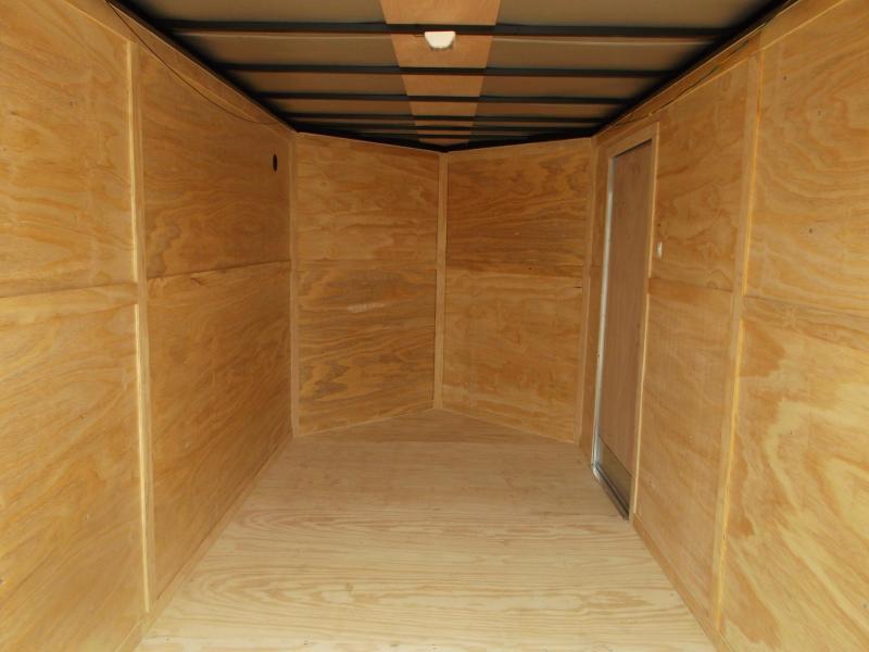 "2021 Prime 7x16 Tandem Axle Cargo Trailer / Enclosed Trailer / 6'6"" Interior Height / Ramp / Side Door / LEDs"