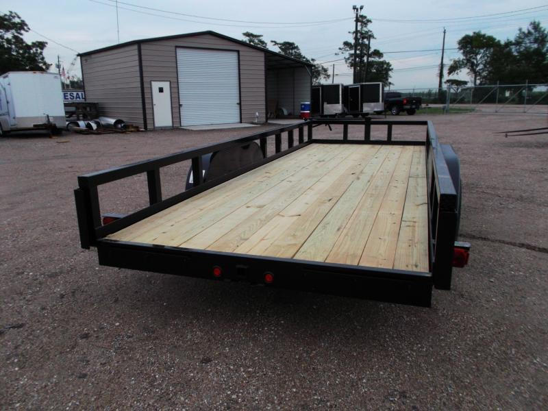 "2020 Longhorn Trailers 83x20 Utility Trailer w/ 7000# Axles / 3"" Square Tubing / 5ft Ramps"