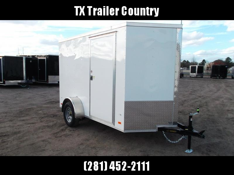 """SPECIAL - 2022 Covered Wagon Trailers 6x10 Single Axle Cargo Trailer / Enclosed Trailer / Ramp / 6'3"""" Interior / RV Side Door / LEDs / Semi-Screwless Exterior"""