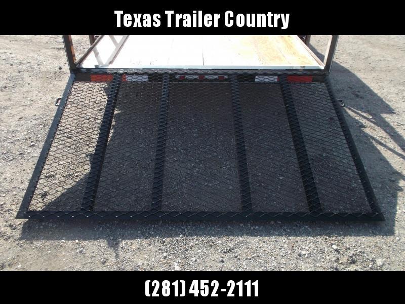 2021 TTC 77x16 Tandem Axle Utility Trailer / Lowboy Trailer / 4ft Ramp Gate