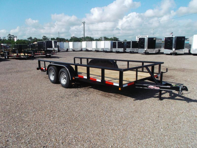 2021 Longhorn Trailers 16ft Utility Trailer w/ Pipetop / 5ft Stow Away Ramps / Electric Brakes