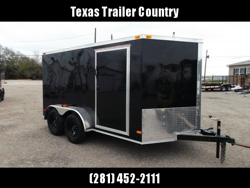 2021 Covered Wagon Trailers 7x12 Motorcycle Trailer / Cargo Trailer / Ramp / (8) D-rings