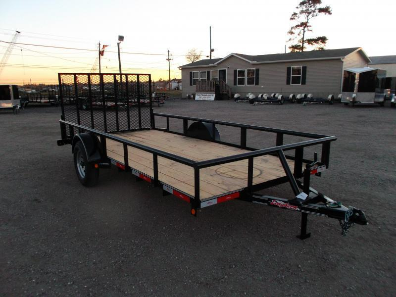 2021 Longhorn Trailers 77x14 Single Axle Utility Trailer / Pipetop / 4ft Heavy Duty Ramp Gate