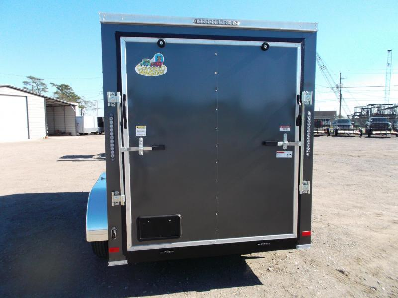 "2021 Covered Wagon Trailers 6x12 Tandem Axle Cargo Trailer / Enclosed Trailer / 6'3"" Interior / Ramp / RV Side Door / LEDs / Silver Vein Powder Coated Exterior Skin / Semi-Screwless Exterior"