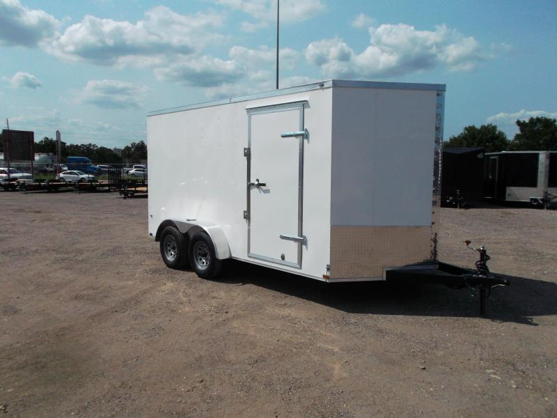 2021 Prime 7x14 Tandem Axle Cargo Trailer / Enclosed Trailer / 6ft Interior Height / Ramp / Side Door / LEDs