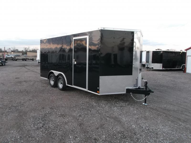 2021 Covered Wagon 8.5x16 Tandem Axle Cargo Trailer / Car Hauler / Ramp / RV Side Door / LEDs