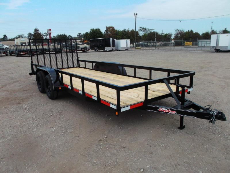 2021 Longhorn Trailers 18ft Utility Trailer w/ 4ft Heavy Duty Square Tubing Ramp Gate