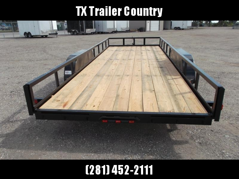 2021 Longhorn Trailers 83x18 Utility Trailer w/ 5ft Slide Out Ramps / Electric Brakes