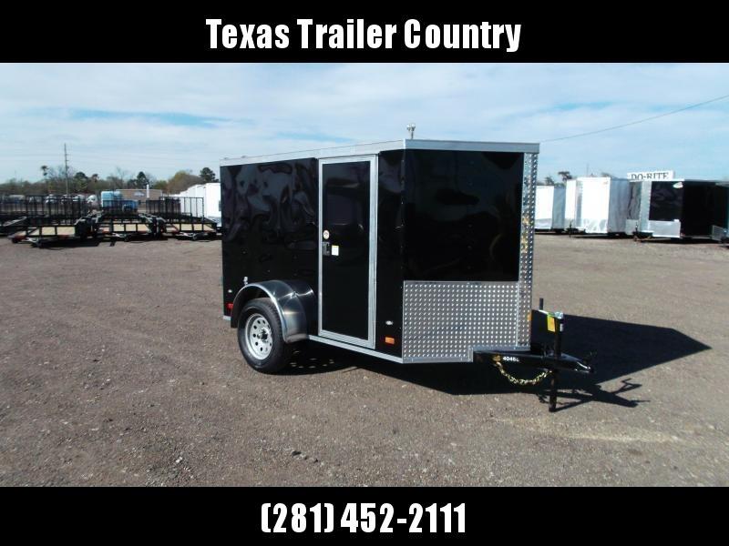2021 Covered Wagon Trailers 5x8 Single Axle Cargo / Enclosed Trailer / Barn Doors / RV Side Door / LEDs / Semi-Screwless Exterior