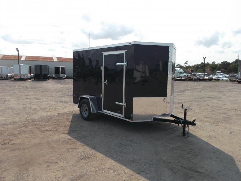 2021 Prime 6x10 Single Axle Cargo Trailer / Enclosed Trailer / 6ft Interior Height / Ramp / Side Door / LEDs