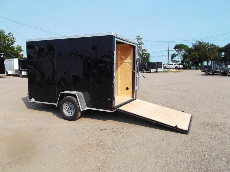 2021 Prime 6x10 Single Axle Cargo Trailer / Enclosed Trailer / 6ft Interior Height / Ramp / Side Door / LEDs
