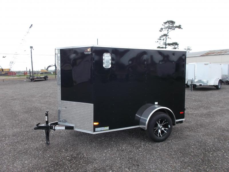 2017 Covered Wagon Trailers 5x8 Cargo / Motorcycle Trailer Enclosed Cargo Trailer