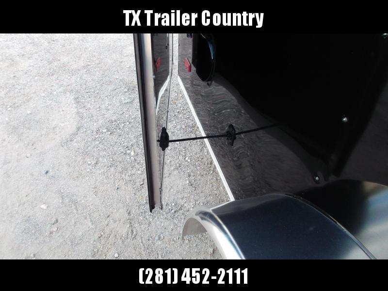 "2022 Covered Wagon Trailers 7x16 Tandem Axle Cargo Trailer / Enclosed Trailer / 6'6"" Interior / Barn Doors / RV Door / LED's / Black Semi-Screwless Exterior"