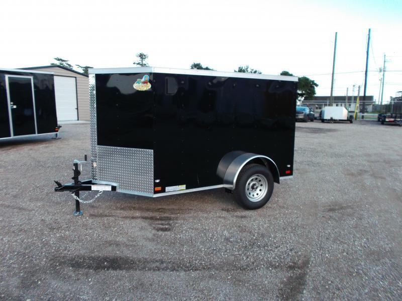 2021 Covered Wagon Trailers 5x8 Single Axle Cargo / Enclosed Trailer / Ramp / RV Side Door / LEDs