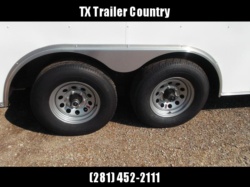 2021 Covered Wagon Trailers 8.5x20 Cargo / Enclosed Trailer / Car Hauler / Motorcycle Trailer / 5200# Axles / (16) D-Rings / Ramp