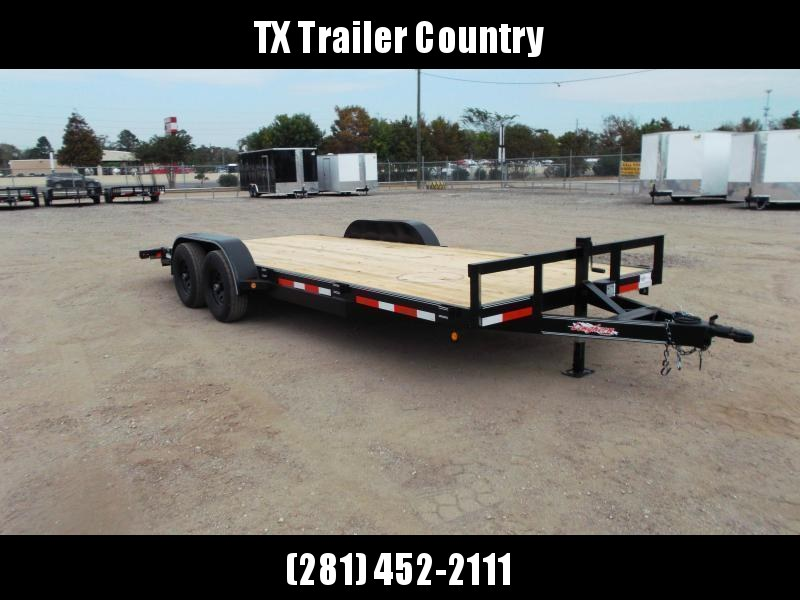 2022 Longhorn Trailers 83x20 Tandem Axle 10K Car Hauler / Racing Trailer / Flat Deck / 5200# Axles / 7K Jack / 2ft Dovetail / 5ft Ramps