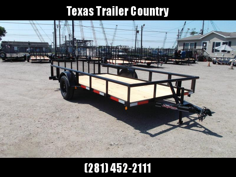 2021 Longhorn Trailers 77x14 Single Axle Utility Trailer / Pipetop / 2ft Dovetail / 2ft Ramp Gate