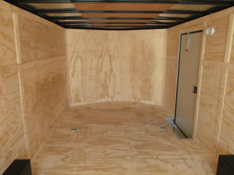 2021 Covered Wagon Trailers 8.5x20 Blacked Out Tandem Axle Cargo / Enclosed Trailer / Car Hauler / 5200# Axles / Ramp / RV Door / LEDs