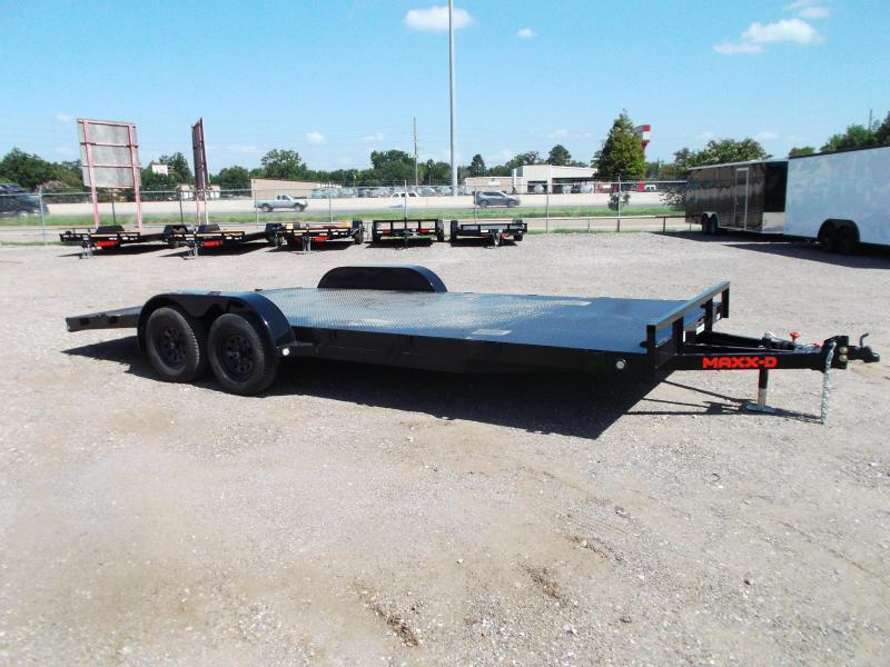 2021 Maxxd 83x20 Steel Deck Car Hauler / Racing Trailer / Powder Coated / 5ft Ramps / 4ft Dovetail / Adj Coupler / D-Rings / LED's