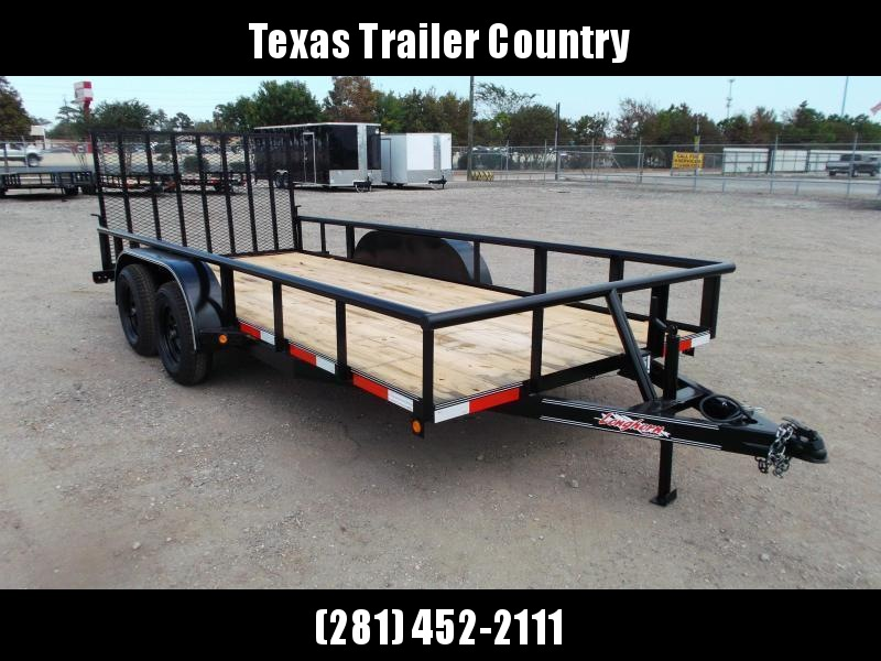 2021 Longhorn Trailers 16ft Utility Trailer / Pipetop / 4ft Ramp Gate