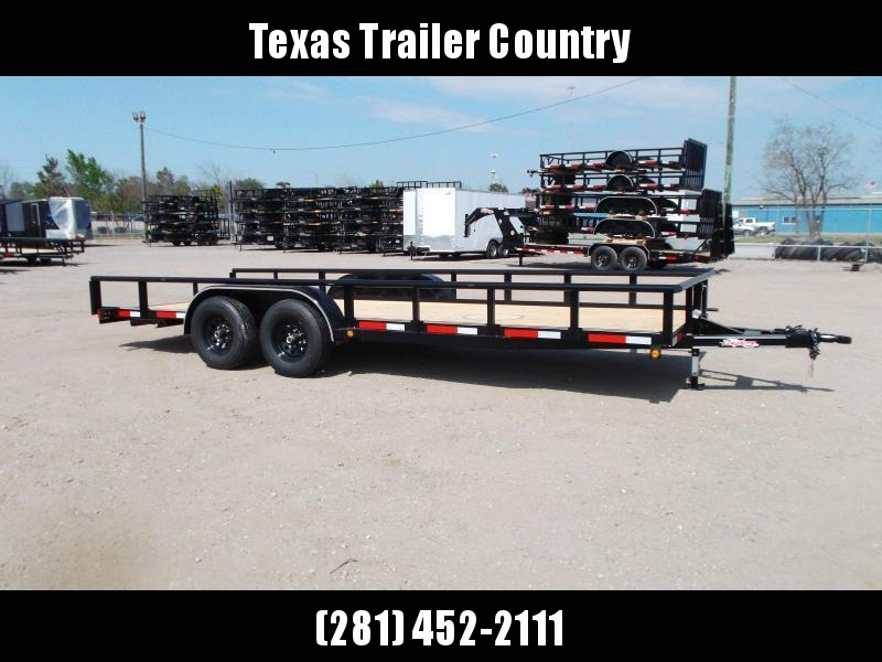 2021 Longhorn Trailers 83x20 Utility Trailer / 3500# Axles / Brakes / 5ft Ramps / Pipetop