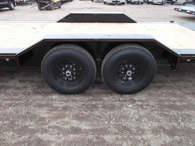2021 Maxxd 102x24 14K Car Hauler / Flatbed Trailer / Equipment Hauler / Powder Coated / 7K Axles / Drive Over Fenders