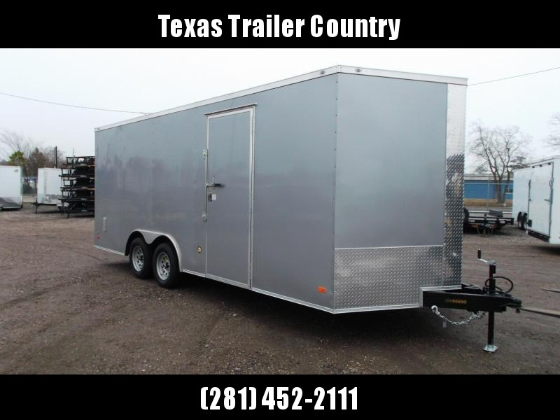 2021 Covered Wagon Trailers 8.5x20 Tandem Axle Cargo / Enclosed Trailer / 7ft Interior Height / 3500# Axles / Ramp / RV Side Door / LEDs / Semi-Screwless Exterior / Silver Powder Coated Skin